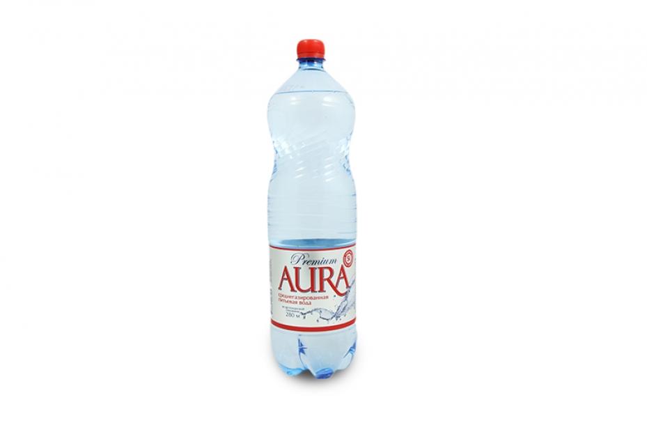 Аура, среднегазированная, 0,5 л