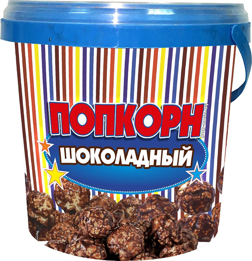 """Завтраки сухие кукуруза воздушная глазированная """"Попкорн POP'S"""" со вкусом шоколада, 125 г"""
