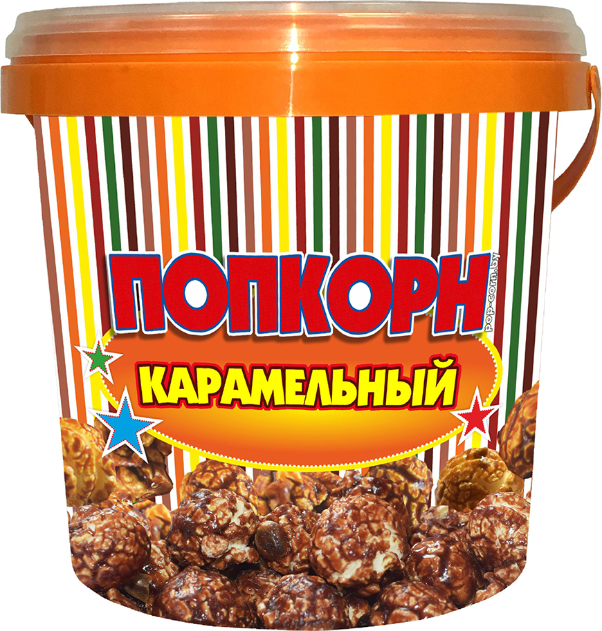 """Завтраки сухие кукуруза воздушная глазированная """"Попкорн POP`S"""" со вкусом карамели, 125 г"""
