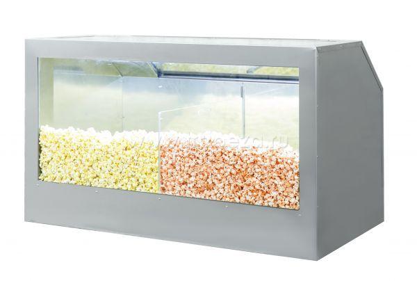 Витрина (2 секции)  для хранения и продажи попкорна ТТМ VTP3-120n