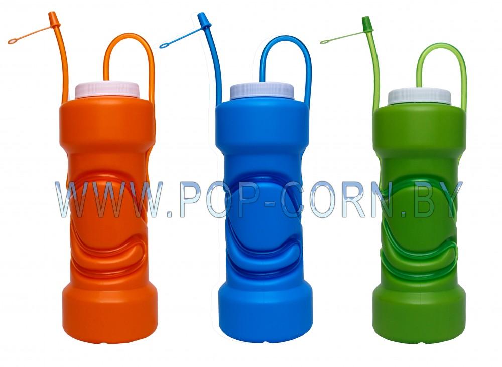 """Пластиковый стакан для напитков """"Трубочка снаружи"""" №2"""