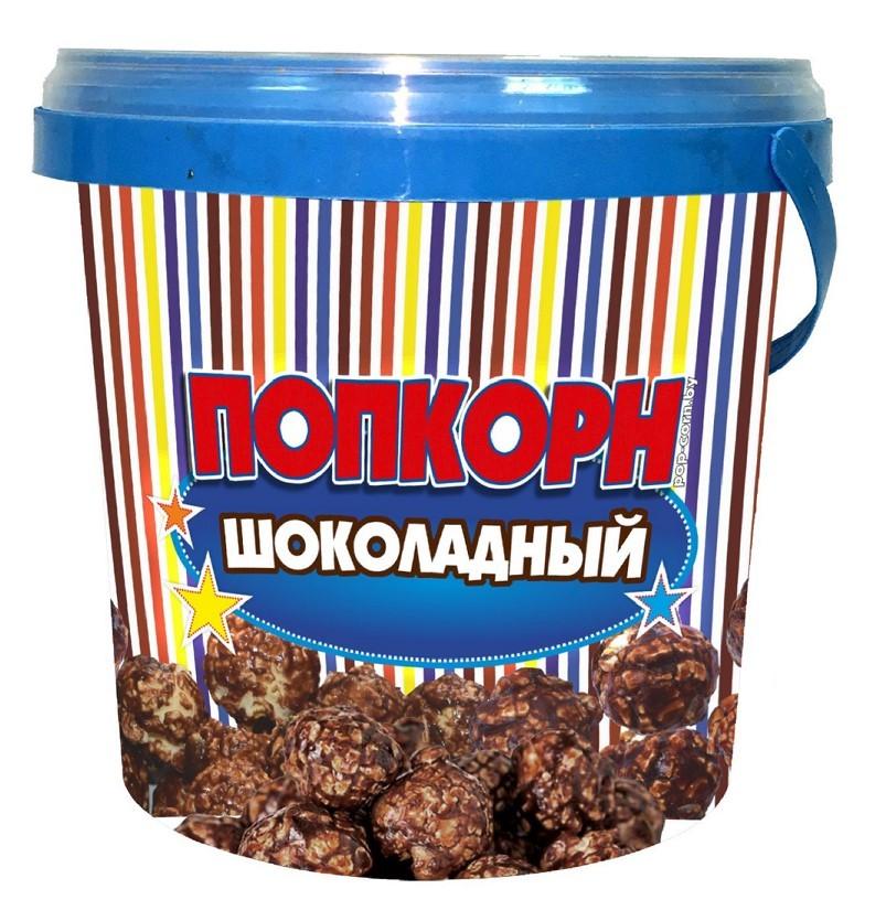 Контейнер для карамелизированного попкорна шоколад, 1 л