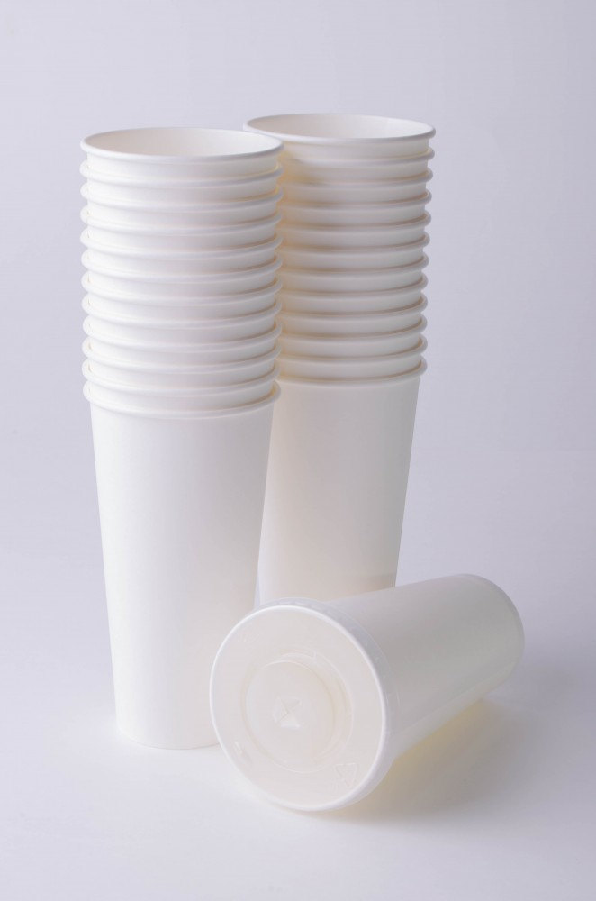 Стакан бумажный для холодных/горячих жидкостей 500 мл