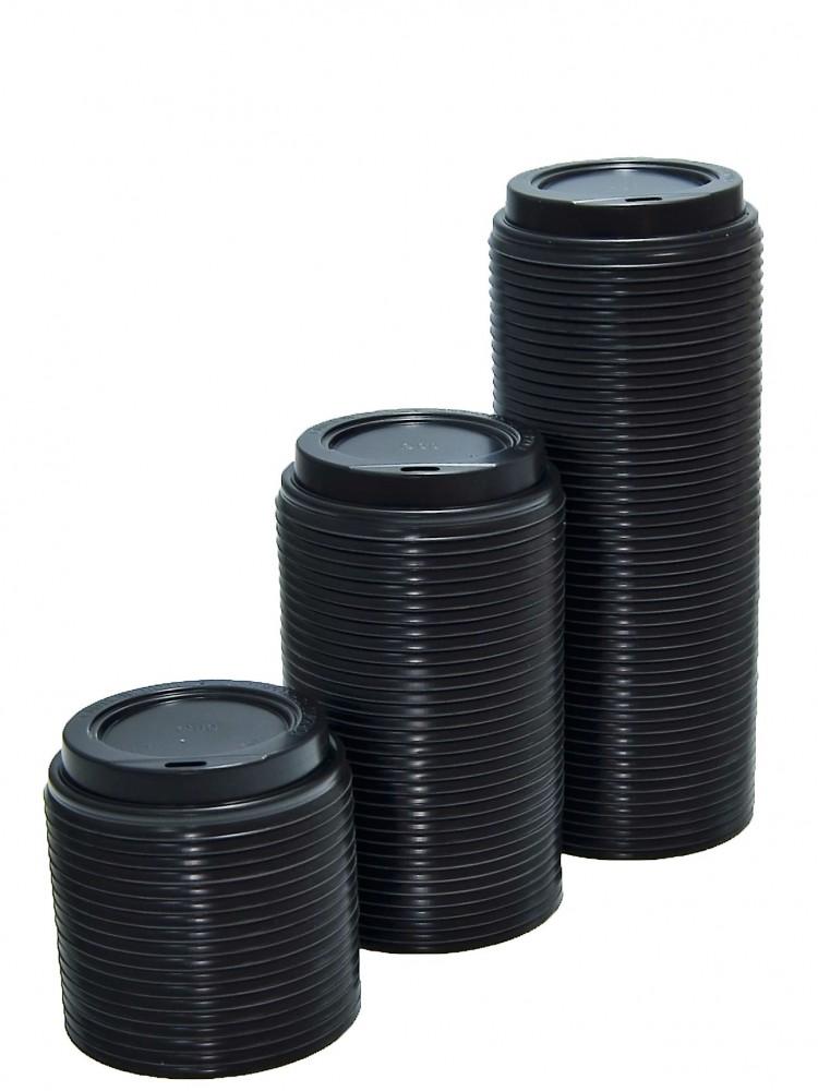 Крышка для кофейного бумажного стакана (д.90мм) 350мл, 500мл, ЧЁРНАЯ,  РФ, 100шт
